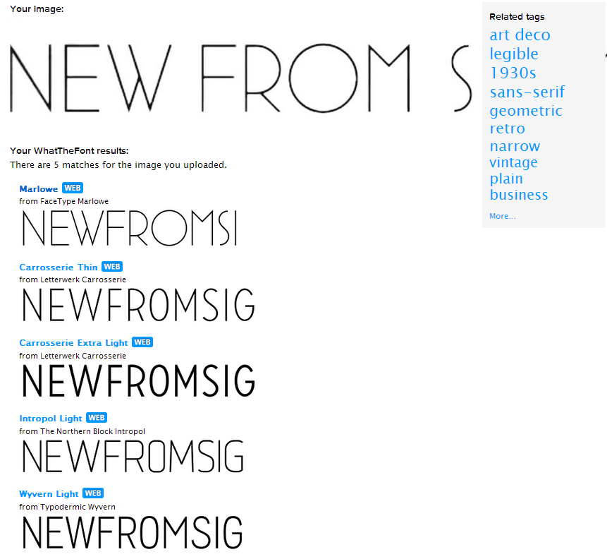 New from sig My fonts