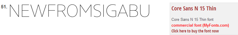 New from sig what font