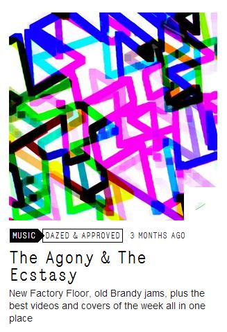 the agony