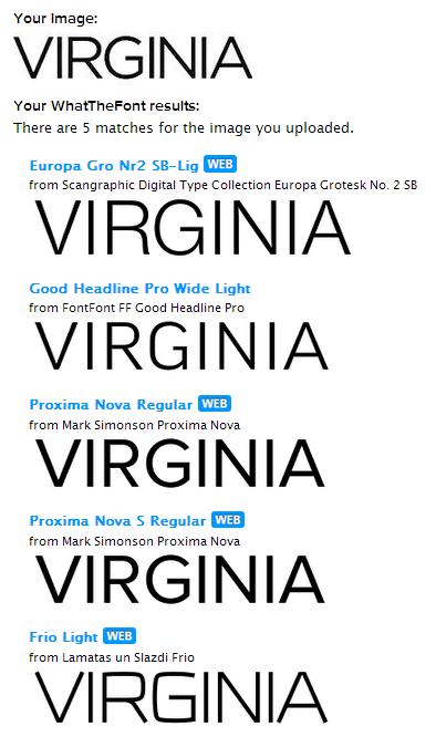 virginia2 myfonts