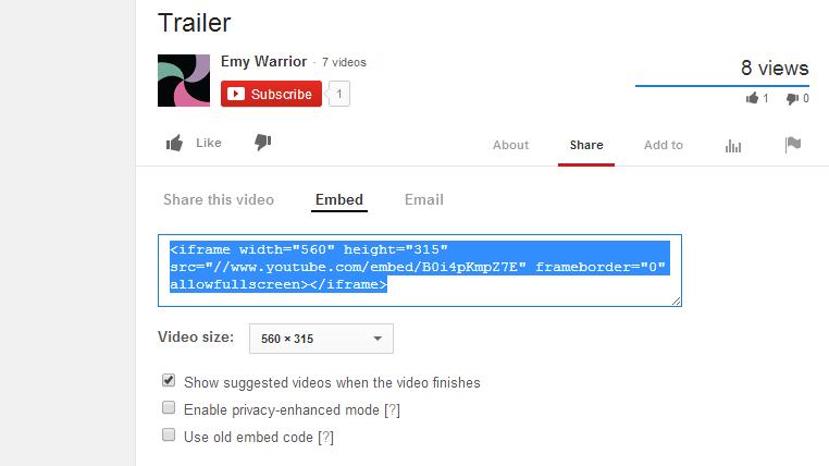 20 youtube embed code