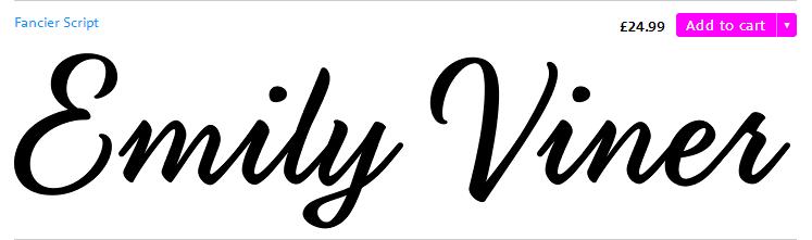 Fancier script