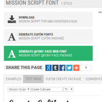 Fonts Used On The Create & Cultivate Web Site - Part 2