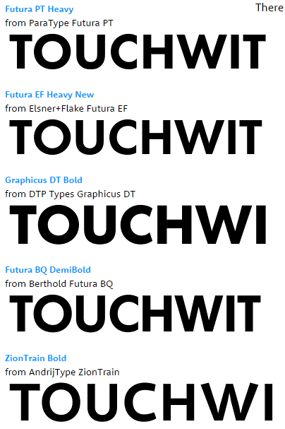 TOUCH RES MY FONTS